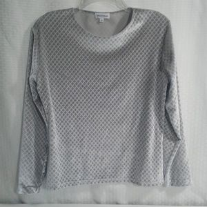 Saks Fifth Avenue Top Size L Silver Velvety